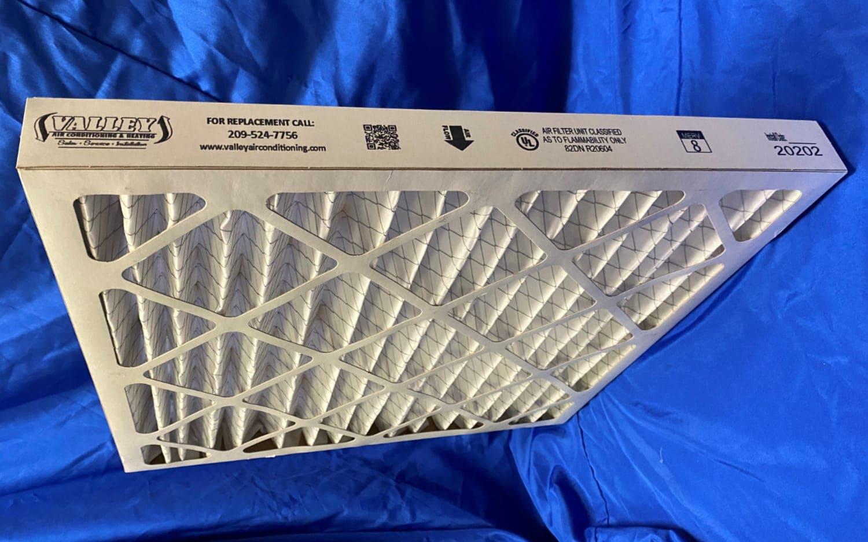 2-inch MERV 8 pleated filter.